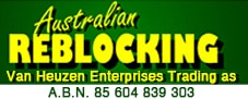 Australian Reblocking Sticky Logo